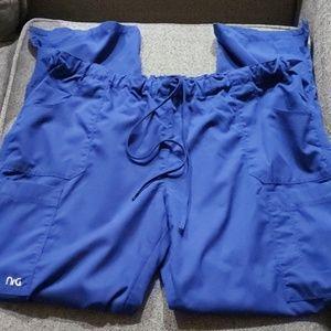 4 pockets NrG scrub bottom ..royal blue